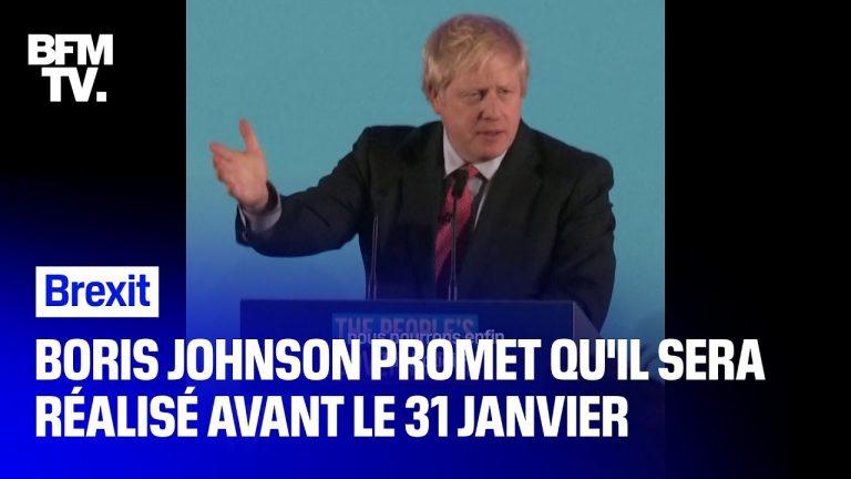 Boris Johnson promet de réaliser le Brexit[Vidéo]