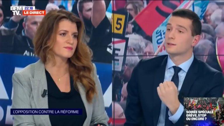 Jordan Bardella et Adrien Quatennens face à Marlène Schiappa et Djebbari sur la réforme des retraites [Vidéo]