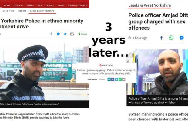 Royaume-Uni. Il avait servi à promouvoir la diversité dans la police. Il se retrouve sur les bancs des accusés d'un gang de violeurs