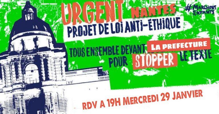 Loi bioéthique. Un nouveau rassemblement mercredi à Nantes