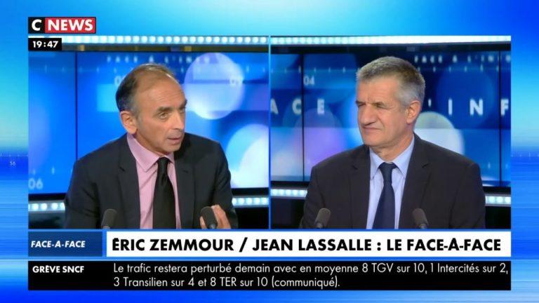 Jean Lassalle face à Eric Zemmour : « Nous sommes au bord de la guerre civile »
