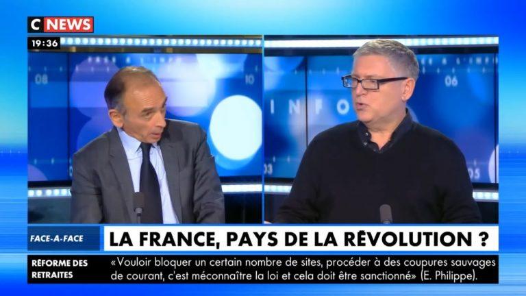 Eric Zemmour face à Michel Onfray sur les gilets jaunes, les révolutions …