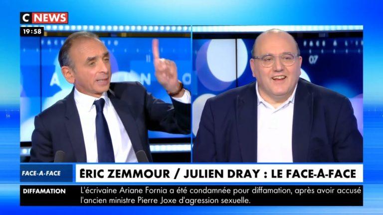 Eric Zemmour face à Julien Dray sur l'immigration, la gauche, le socialisme