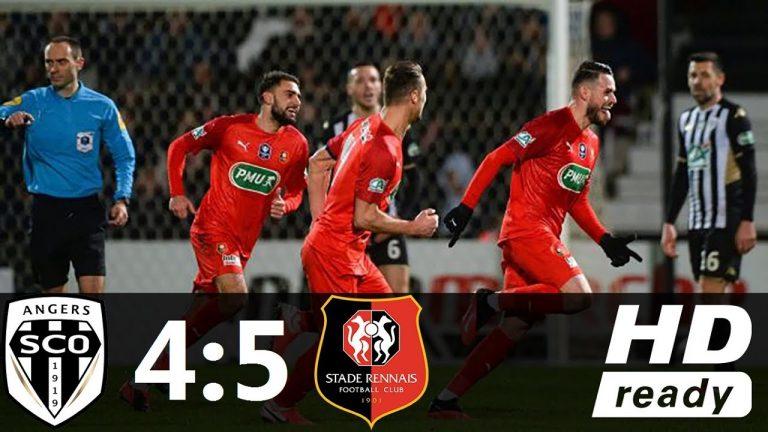 Le Stade Rennais en quart de finale de la Coupe de France après un match fou face à Angers (4-5)
