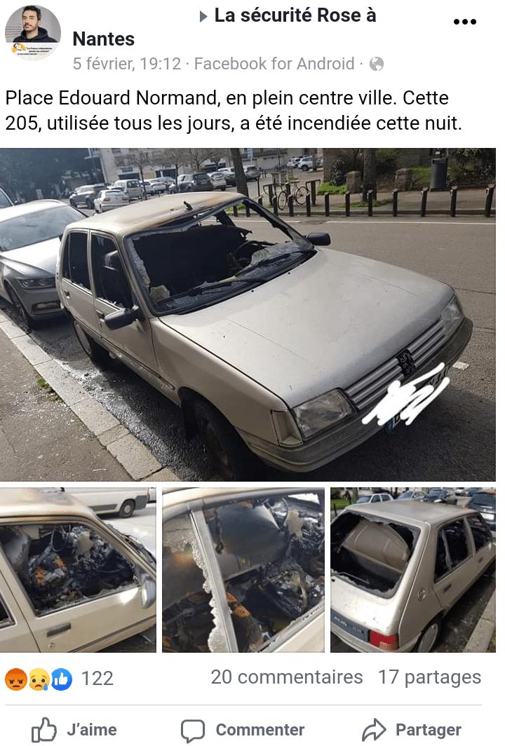 Nantes. Des voitures brûlées et d'autres volées… pour être désossées