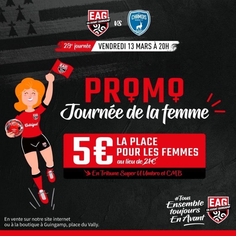 Discrimination ? En Avant Guingamp met en vente des places à 5 euros réservées… aux femmes