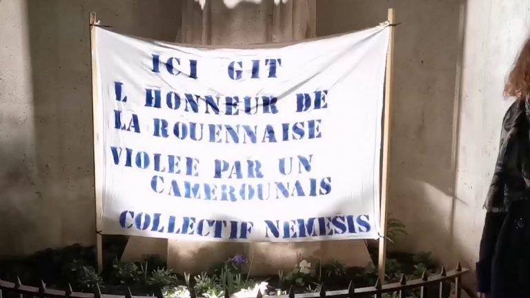 Rouen. Dénonçant le silence des féministes, le collectif Némésis rend hommage à une jeune femme rouennaise violée par un demandeur d'asile camerounais.