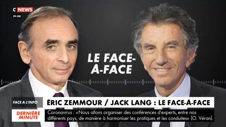 Zemmour face à Jack Lang : « Vous êtes l'idiot utile des Frères musulmans qui veulent arabiser la France pour mieux l'islamiser ! »