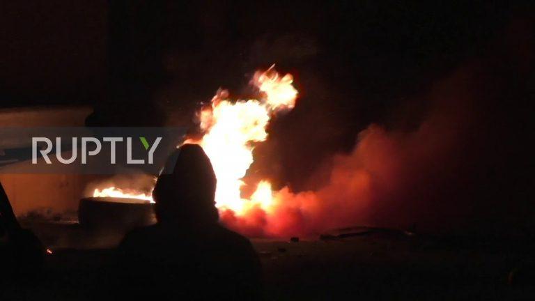 A Lesbos, le peuple se révolte contre les autorités grecques qui veulent imposer des migrants