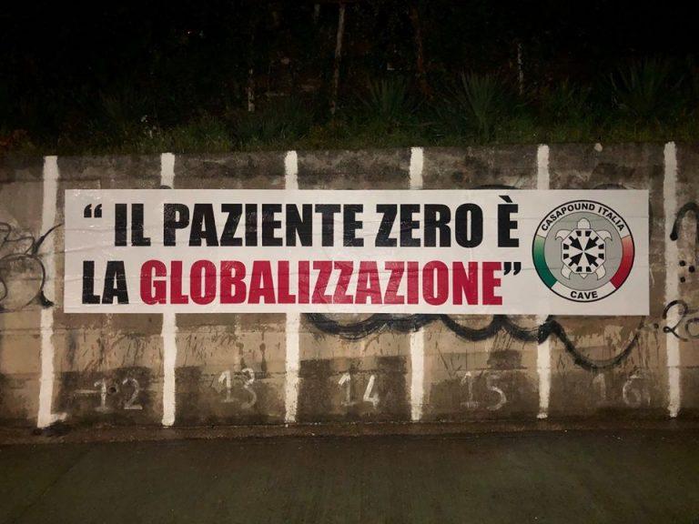 Coronavirus. « Le patient zéro est la mondialisation ». Des banderoles de Casapound fleurissent dans toute l'Italie