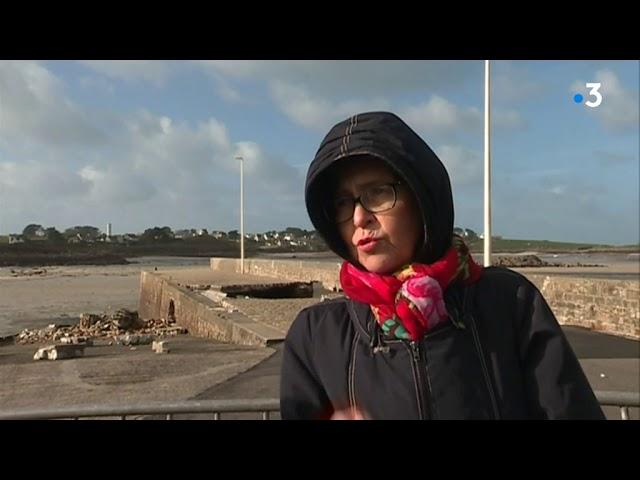 Le môle de Portsall en sursis après la tempête Ciara