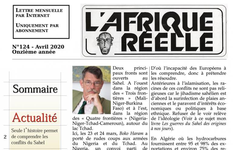 L'afrocentrisme au menu du n°124 de la revue <i>L'Afrique réelle</i>