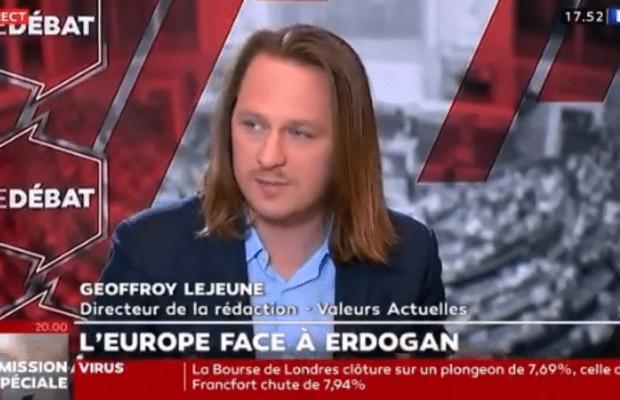 Geoffroy Lejeune : « On est en train de vivre une invasion de l'Europe »