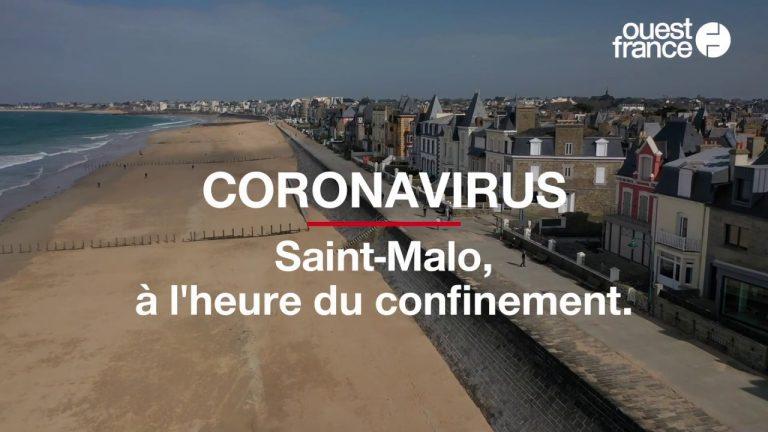 Avec le confinement, la ville de Saint-Malo s'est éteinte