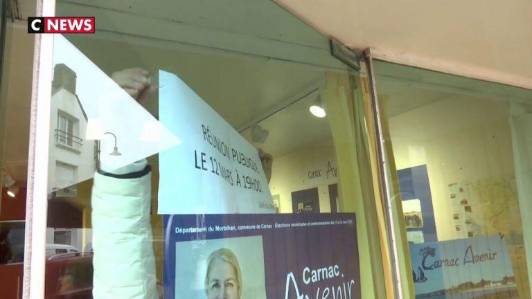 Coronavirus : à Carnac, les candidats s'organisent pour continuer la campagne