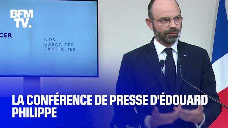 Revoir l'intégralité de la conférence de presse d'Édouard Philippe sur le coronavirus