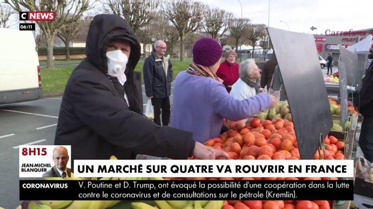 Coronavirus. Un quart des marchés alimentaires vont rouvrir en France