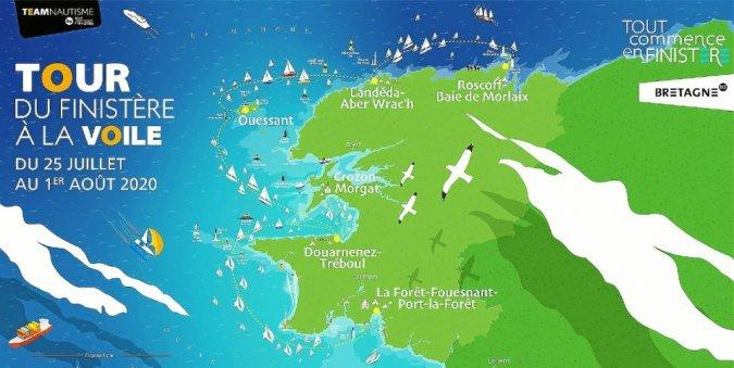 Tour du Finistère à la voile. Des nouveautés pour l'édition 2020
