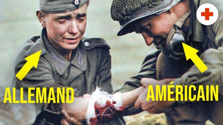6 juin 1944. Les 2 infirmiers qui ont soigné soldats allemands et américains
