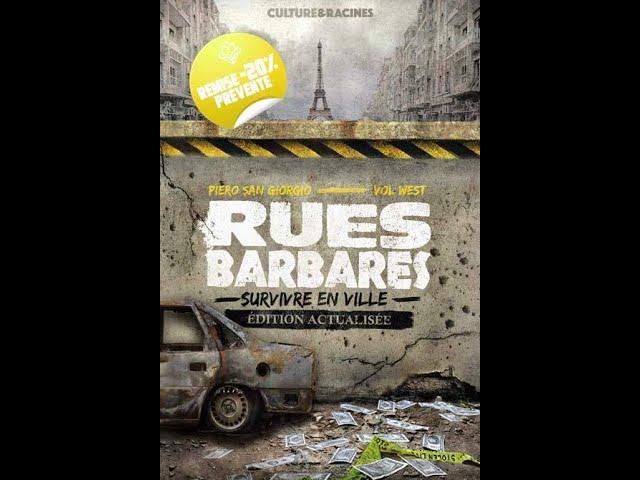 Le livre Rues Barbares (Vol West/San Giorgio) va ressortir