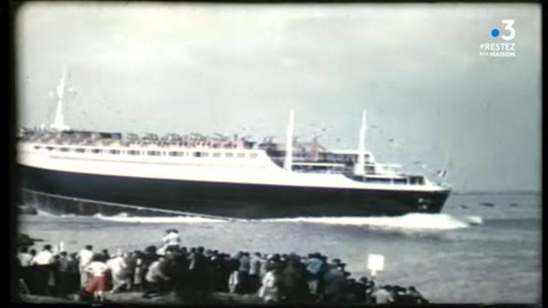 Saint-Nazaire : il y a 60 ans, mise à l'eau du paquebot France