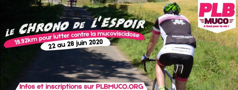 PLM Muco, Cyclisme et solidarité. Et si vous tentiez le chrono de l'espoir ?