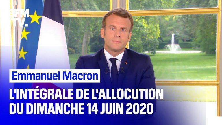 L'intégralité de l'allocution d'Emmanuel Macron du 14 juin 2020