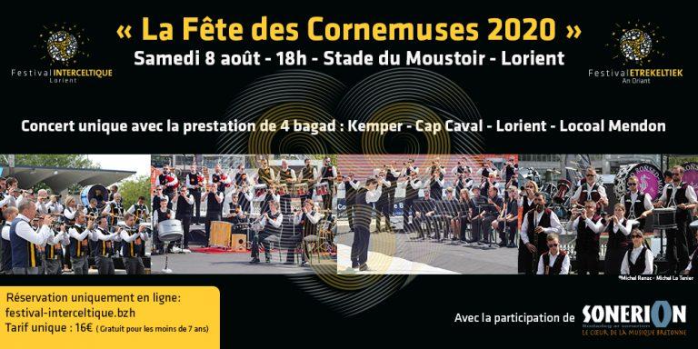 Festival Interceltique de Lorient. Un grand concert de bagadoù au stade du Moustoir le 8 Août