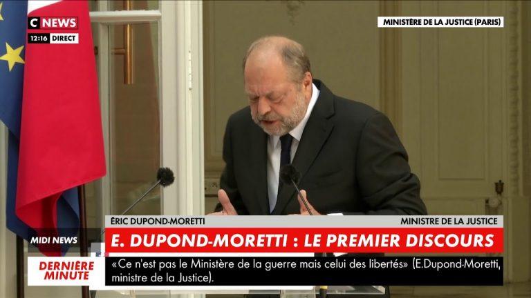 Eric Dupond-Moretti : « Mon ministère sera aussi celui de l'antiracisme et des droits de l'homme »