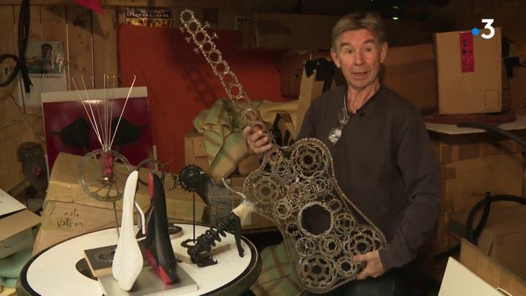 Saint-Avé (56). Le sculpteur Lucien Jalu donne une nouvelle vie aux vieux vélos
