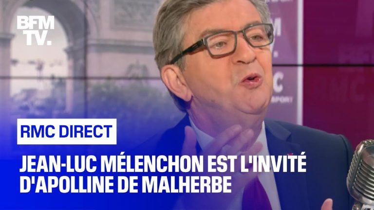 Jean-Luc Mélenchon face à Apolline de Malherbe