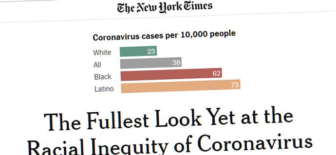 Noirs et blancs américains inégaux face au covid-19, selon les chiffres officiels
