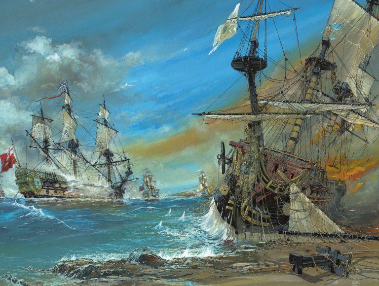 La Hougue, la bataille navale en bande dessinée.
