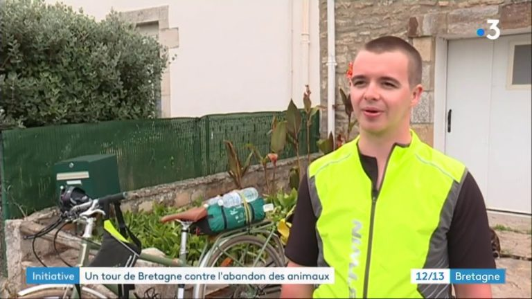 Un tour de Bretagne à vélo contre l'abandon des animaux