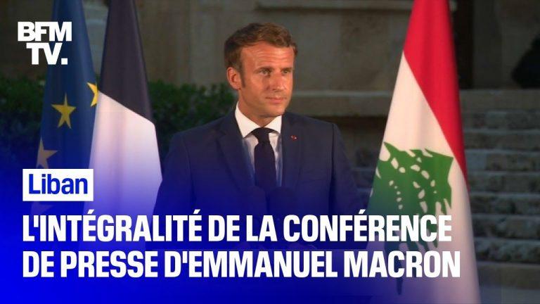 L'intégralité du discours d'Emmanuel Macron au Liban
