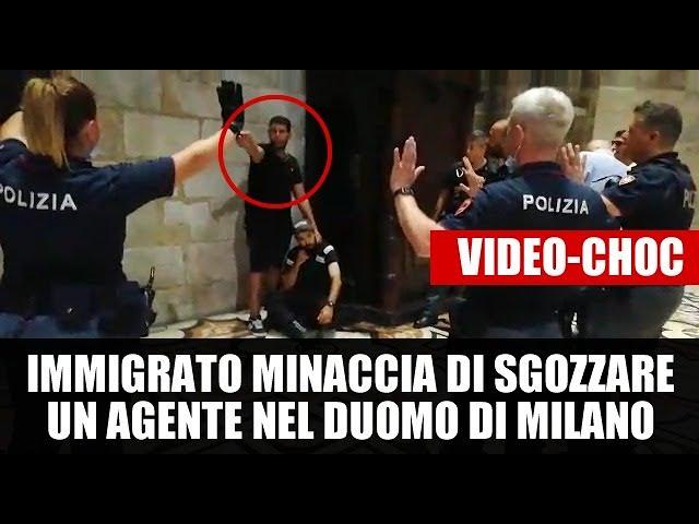 Italie : Matteo Salvini diffuse la vidéo d'un migrant ayant pris en otage un agent de sécurité