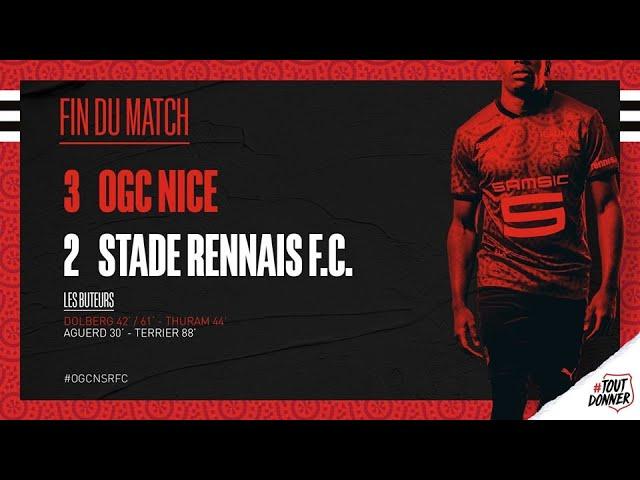 Le Stade Rennais s'incline à Nice (3-2). Le résumé en vidéo