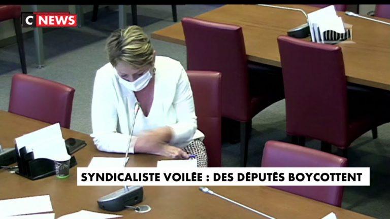 L'Assemblée nationale accueille une syndicaliste d'extrême gauche voilée. Des députés quittent les travaux