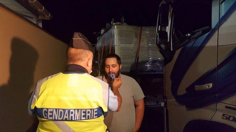 Dépistage nocturne aux stupéfiants sur des chauffeurs routiers en Ille et Vilaine