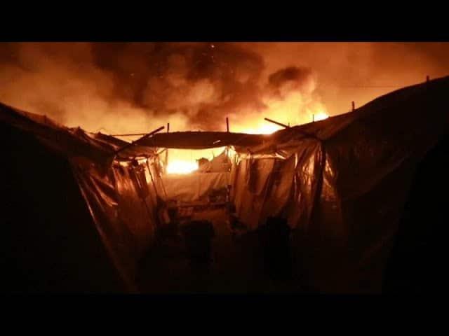 Grèce. Incendies à Lesbos : « réactions violentes » des migrants contre des contrôles sanitaires ? [Vidéo]