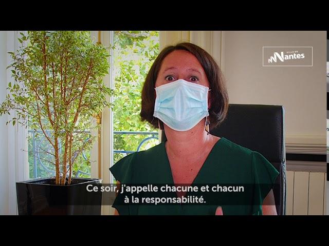 Tyrannie sanitaire, brimade et moraline. Johanna Rolland s'exprime sur le port du masque obligatoire à Nantes