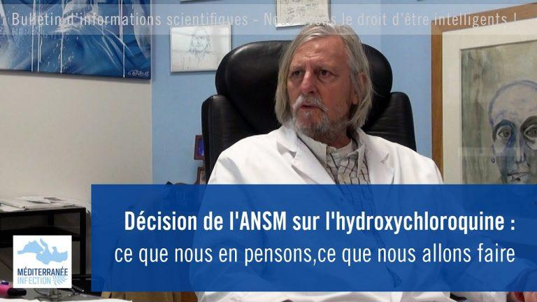 Décision de l'ANSM sur l'hydroxychloroquine : Le Professeur Raoult s'exprime