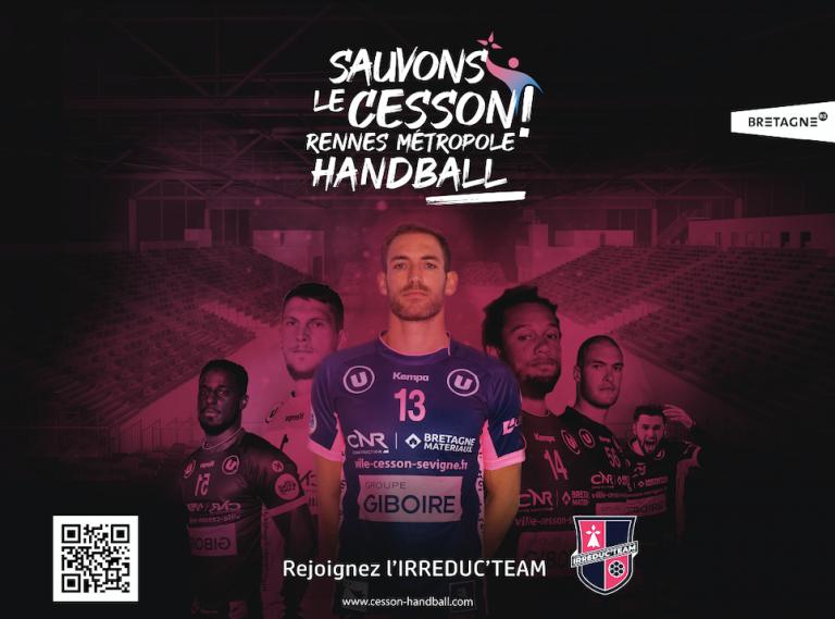 Menacé de disparaitre, le Cesson Rennes Métropole Handball lance l'opération « Sauvons le CRMHB ! »
