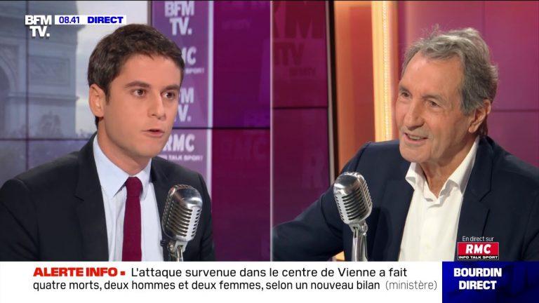 Islamisme, confinement…Gabriel Attal, porte-parole du Gouvernement, face à Jean-Jacques Bourdin