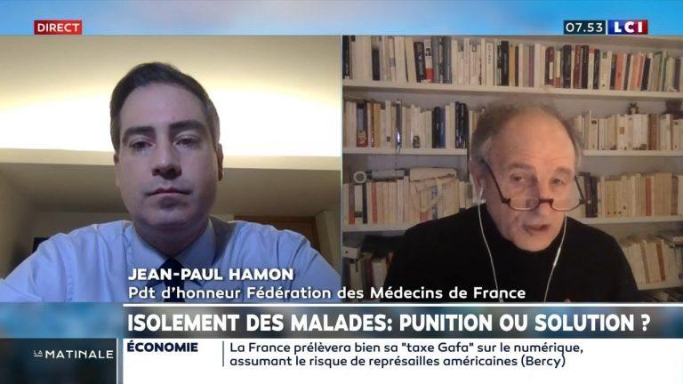 Le Dr. Jean-Paul Hamon recadre le député Olivier Becht sur l'isolement des malades du Covid-19