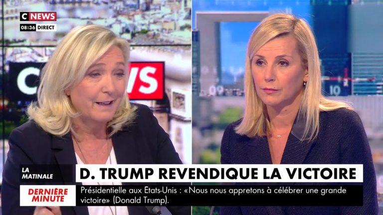Elections américaines, confinement, covid, islamisme…Marine Le Pen sur Cnews