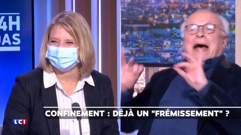 André Bercoff confronte Karine Lacombe sur la Covid-19, elle rigole et le traite de complotiste
