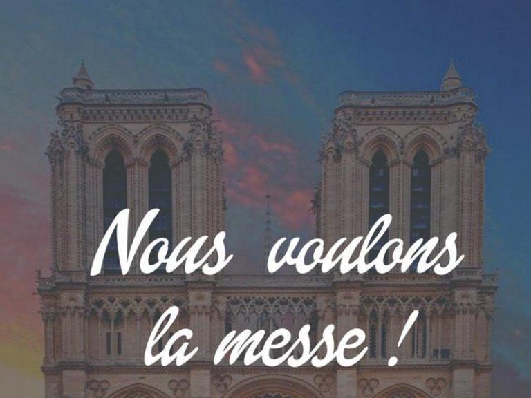 Nantes. Pour la Messe : manif maintenue et déplacée, messe interdite