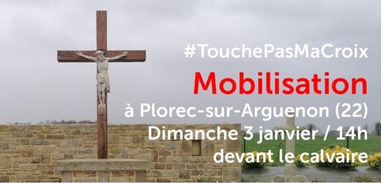 #Touchepasmacroix. Une mobilisation pour défendre le calvaire de Plorec-sur-Arguenon (22)