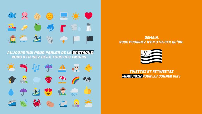 Drapeau breton. Pas d'emoji pour les Bretons !